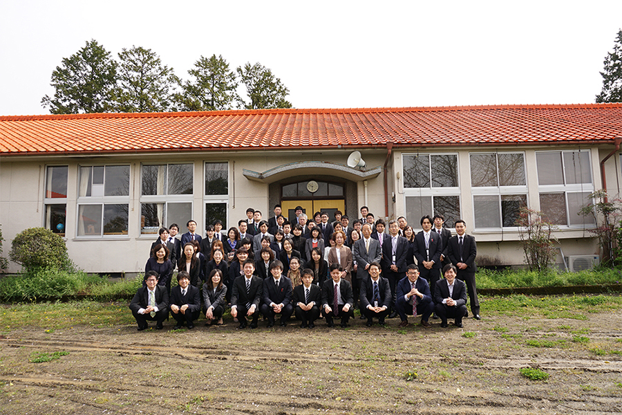 旧朴木小学校にて